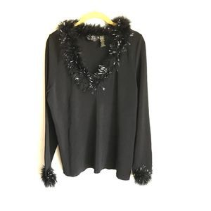 Dana Buchman Women Plus Size Black Sweater Size 1X